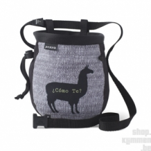 Graphic Chalk Bag with belt - Black Llama